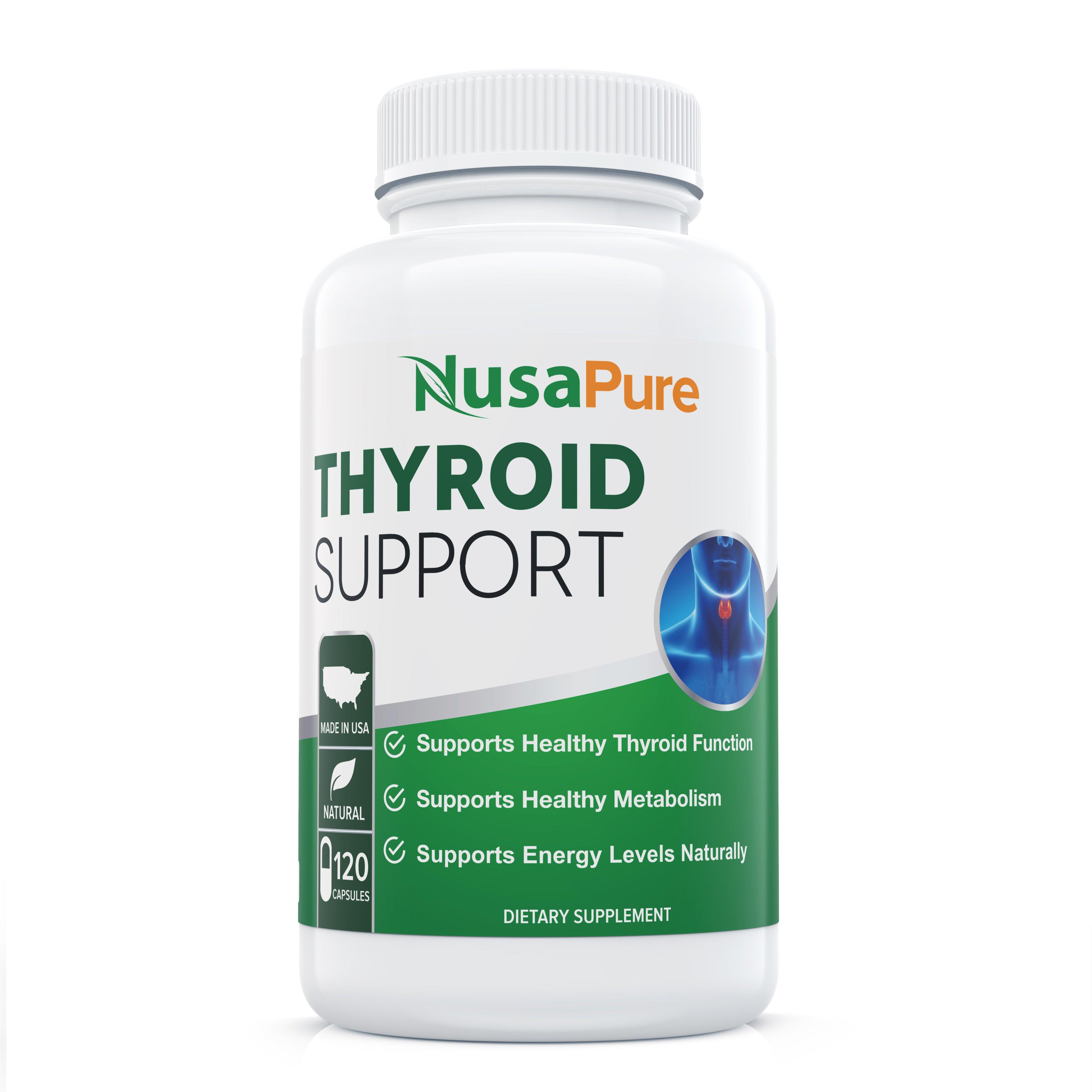 Thyroid Support  - 120 Caps ( Non-GMO) with Ashwaganda, Iodine, Zinc, T3 Supplement, Kelp, Vitamin B12