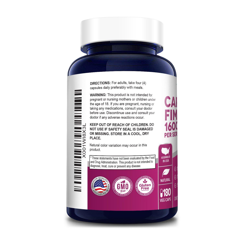 Caralluma Fimbriata 1600 mg - 180 Veg Caps (100% Vegetarian, Non-GMO & Gluten-free)
