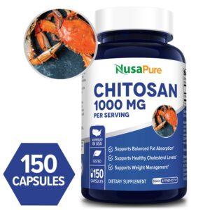 Chitosan 1000 mg - 150 Caps (100 % Non-GMO & Gluten-free)