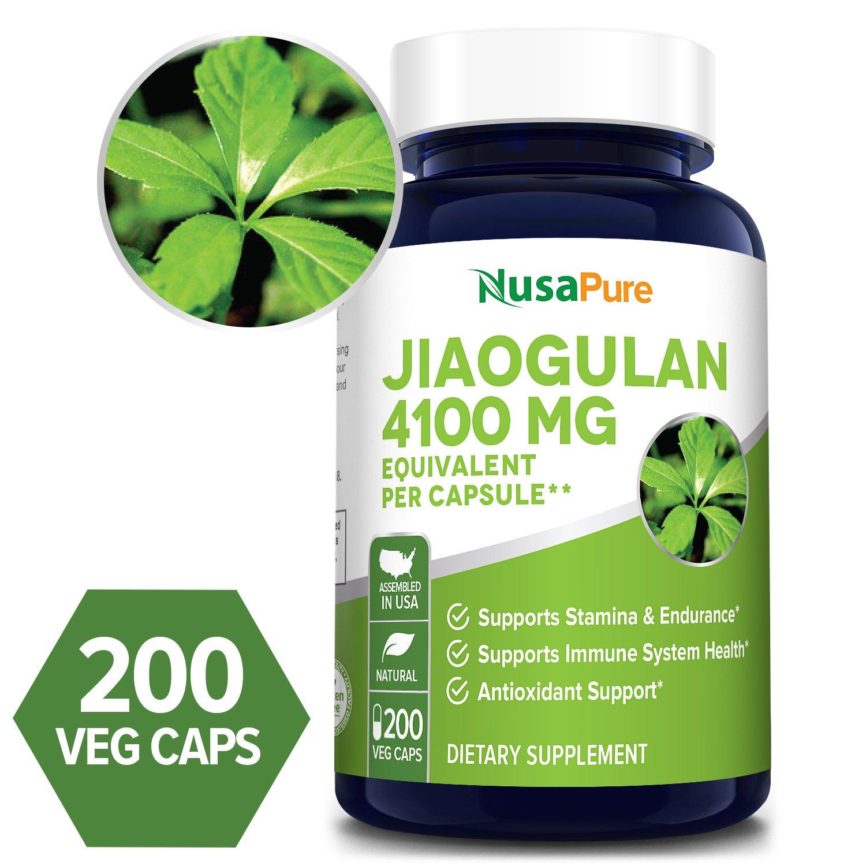 Jiaogulan 4100 mg- 200 Veg Caps (100% Vegetarian, Non-GMO & Gluten-free)