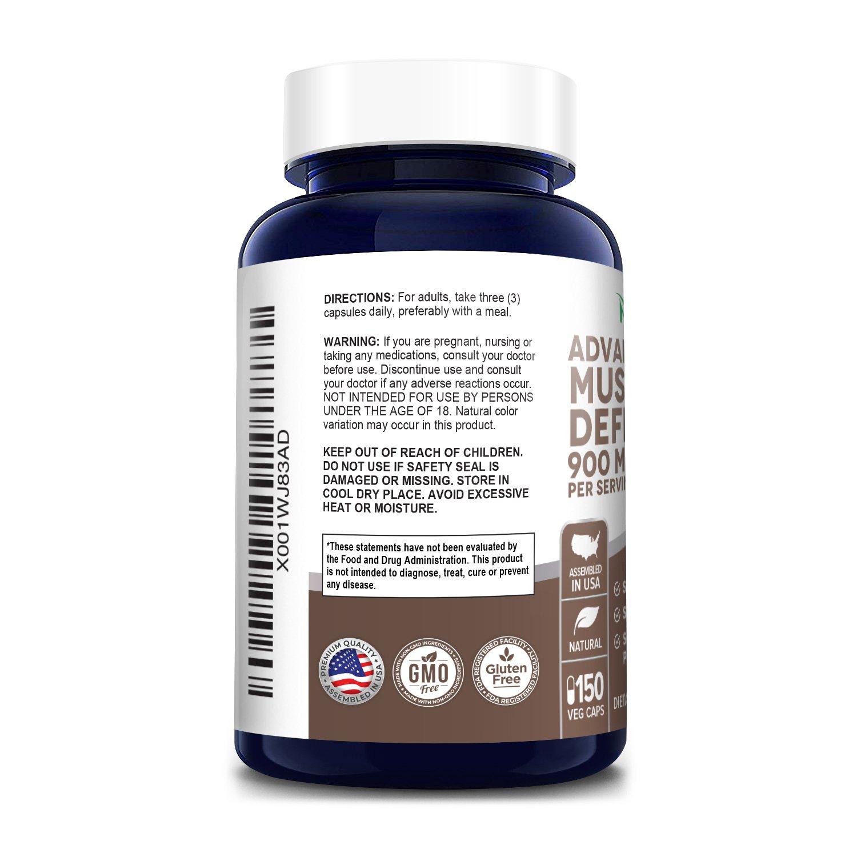 Advanced Mushroom Defense 900 mg - 150 Veg Caps (100 % Vegetarian, Non-GMO & Gluten-free)