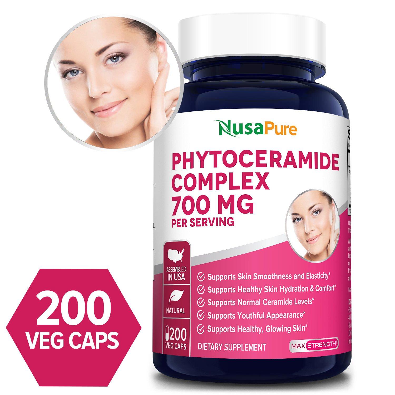 Phytoceramides Complex 700 mg - 200 Veg Caps (100% Vegetarian & Non-GMO)
