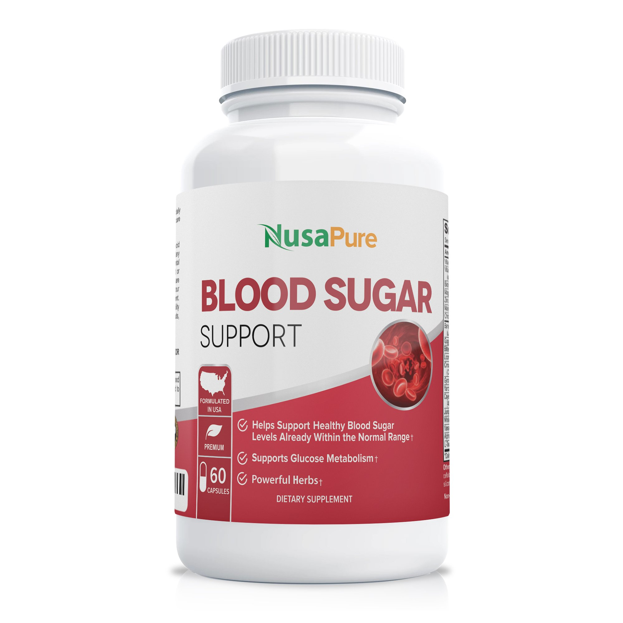 Blood Sugar Control with Bitter Melon, Magnesium, Gymnema Sylvestre (Non-GMO)