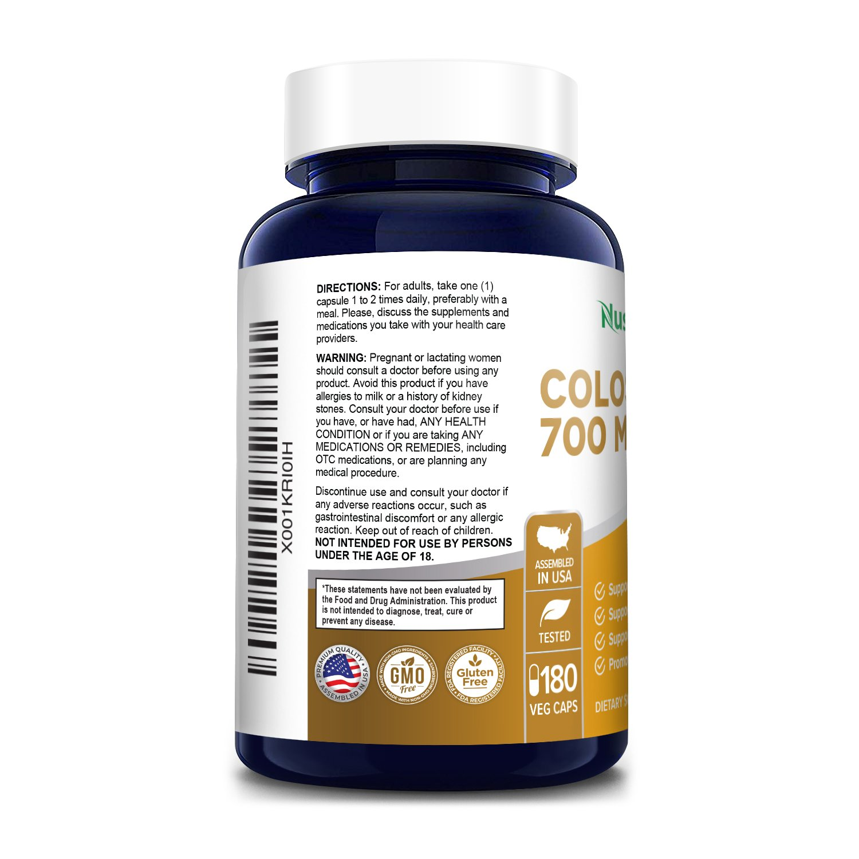 Colostrum 700 mg -180 Veg Caps (Vegetarian, Non-GMO & Gluten-free)