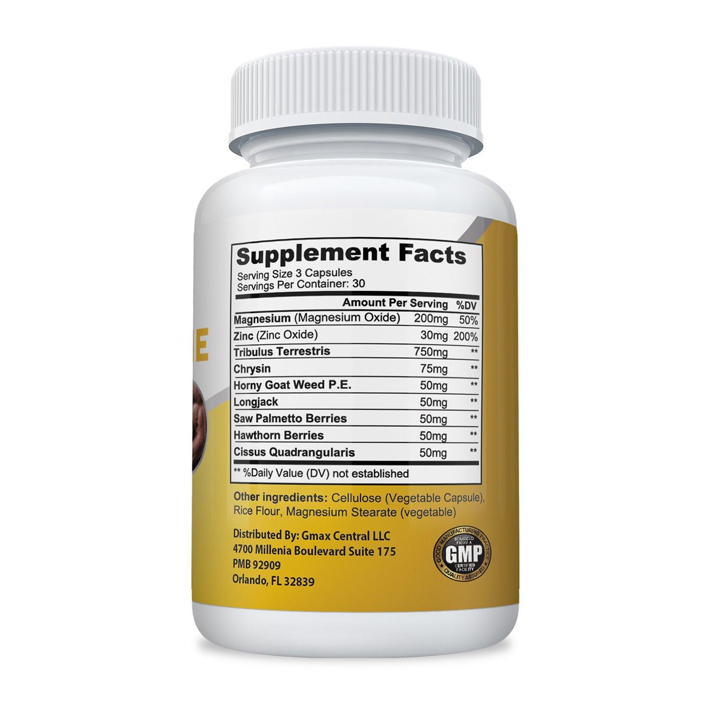 Testosterone Ultimate w/ Tribulus Terrestris, Longjack, Horny Goat - 90 Veg capsules (100% Vegetarian)