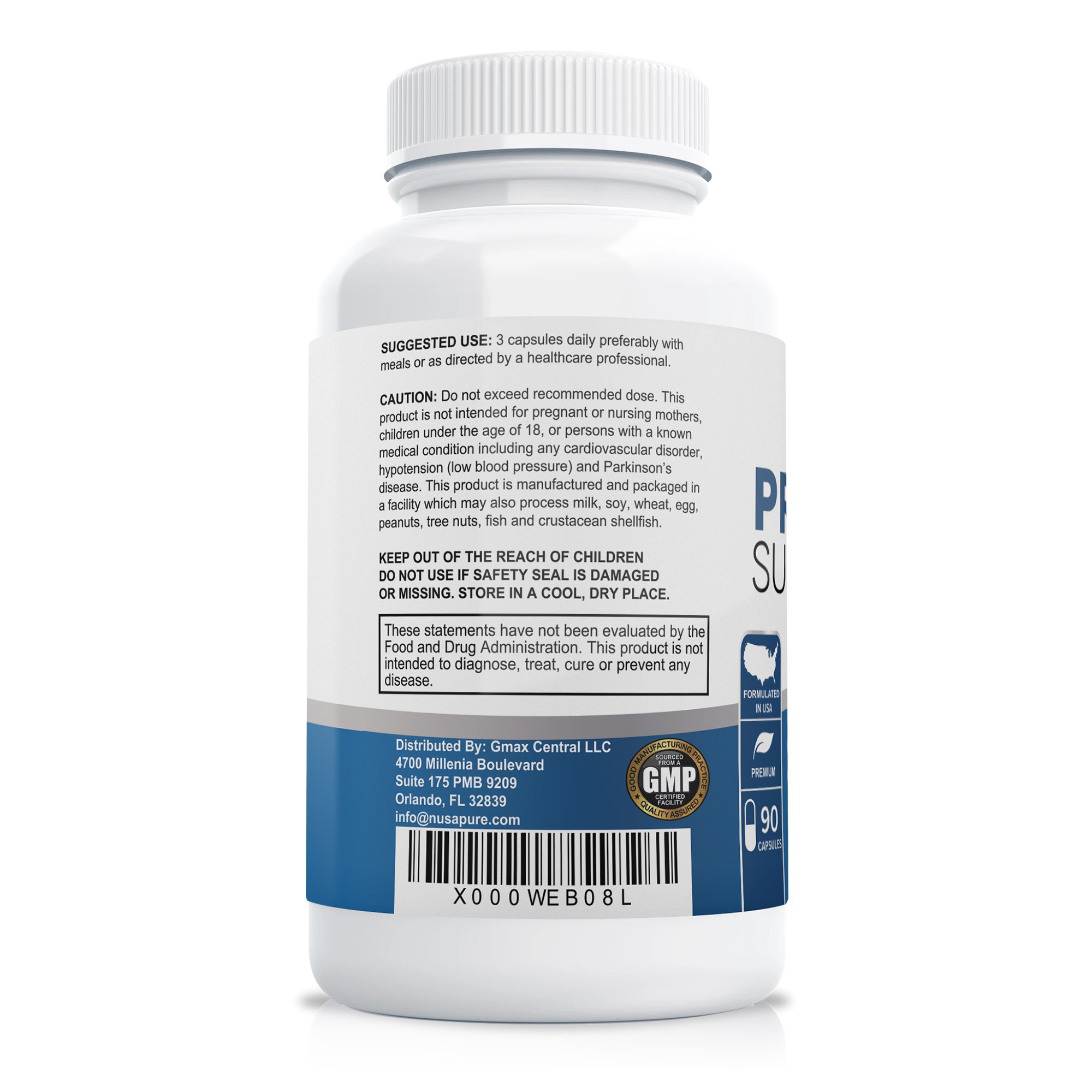 Prostate Support Saw Palmetto Supplement - 90 Caps