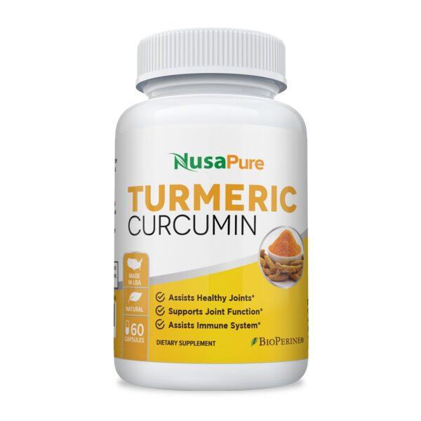 Turmeric Curcumin with Organic Turmeric & Bioperine ( Vegetarian) - 60 Caps