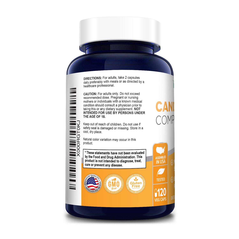 CandiHealth -  Candida Support (Non-GMO, Gluten-free, Vegan) 120 Veggie Capsules